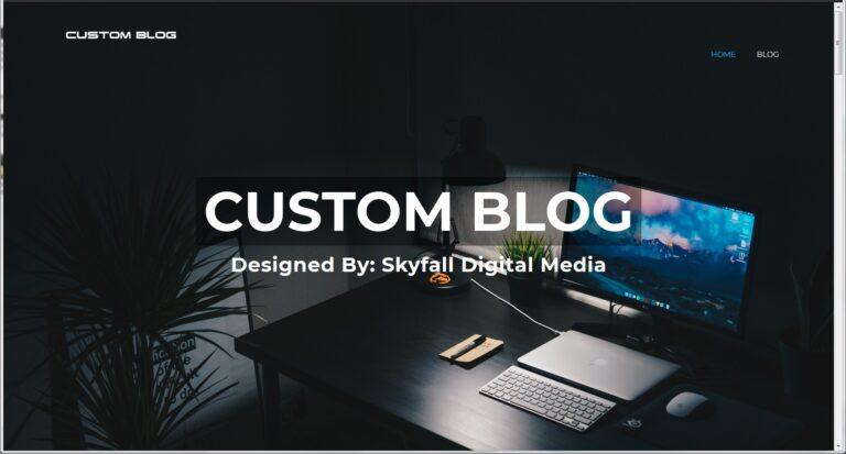 Custom Blog