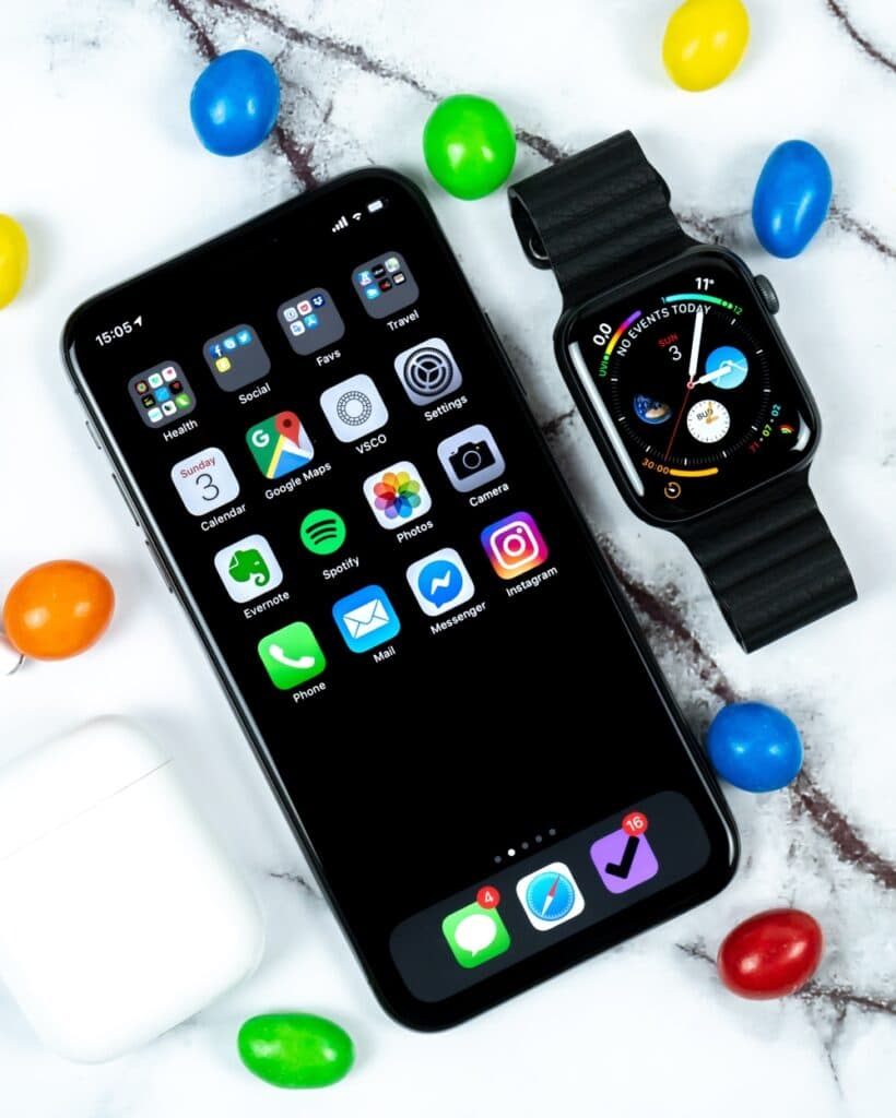 Cell Phone and Smart Watch